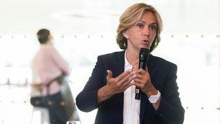 Valerie Pécresse lors d'une conférence de presse, le 25 août 2021, àParis. (NATHAN LAINE / HANS LUCAS / AFP)