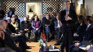 Franck Riester, ministre de la Culture, participe au débat avec les acteurs associatifs sociaux-culturels dans le cadre du Grand Débat National, le 5 février à Vesoul. (ALEXANDRE MARCHI / MAXPPP)
