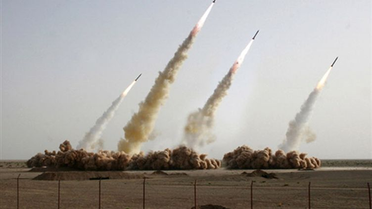 Essai de missiles en Iran (© AFP PHOTO - HO - SEPAH NEWS)