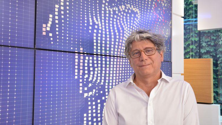 Eric Coquerel,député LFI de Seine-Saint-Denis, invité de l'émission politique sur franceinfo du 6 août 2018. (JEAN-CHRISTOPHE BOURDILLAT / RADIO FRANCE)