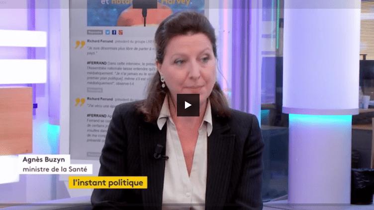 """Agnès Buzyn, ministre de la Santé et des Solidarités, invitée de """"L'instant politique"""". (FRANCEINFO)"""