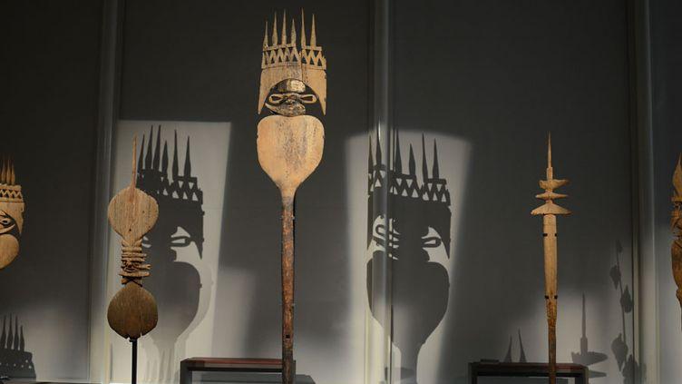 """L'exposition """"Kanak"""" au musée du Quai Branly  (Jérôme Mars / JDD / SIPA)"""