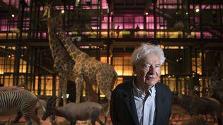 L'architectePaul Chemetov pose le 16 septembre 2014 au Muséum d'Histoire naturelle, à Paris  (Joël Saget / AFP)