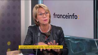 Florence Lustman, présidente de la Fédération française de l'assurance, le 20 octobre 2021. (FRANCEINFO / RADIO FRANCE)
