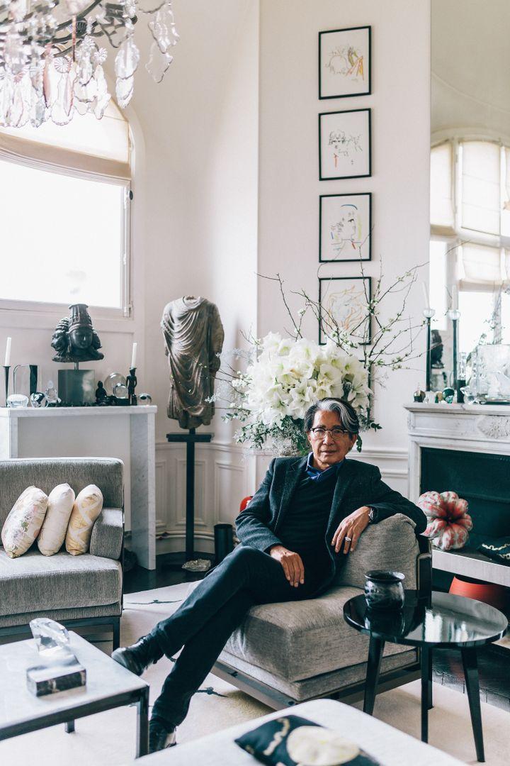 Le créateur japonais Kenzo Takada à Paris en 2020 (MITCHELL GENG)
