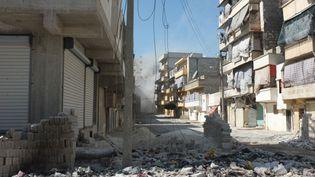 Vue d'une rue dévastée d'Alep (Etienne Monin /Orphea)