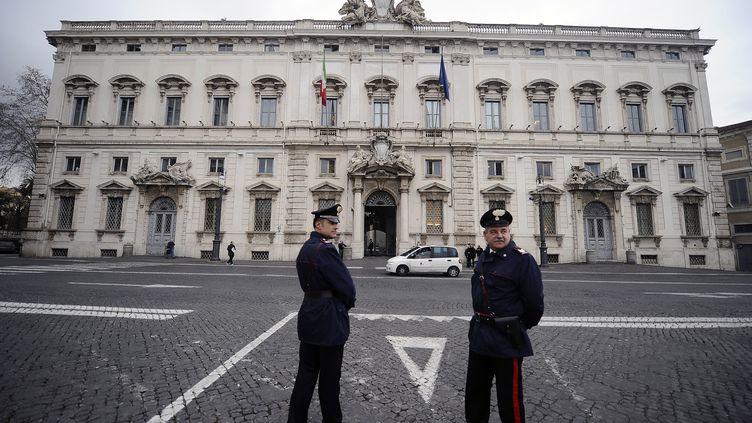 La Cour constitutionnelle italienne, à Rome, le 11 janvier 2019. (FILIPPO MONTEFORTE / AFP)