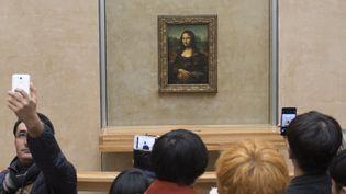 """La """"Joconde"""" au Louvre, qui présentera à l'automne 2019 une grande exposition Léonard de Vinci, à l'occasion du 500e anniversaire de sa mort.  (Fredrik Sansberg / TT News Agency / AFP)"""