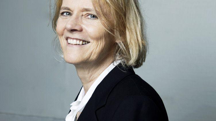 Portrait de la journaliste et écrivaine Florence Aubenas en juin 2018 (PATRICE NORMAND / ÉDITIONS DE L'OLIVIER)