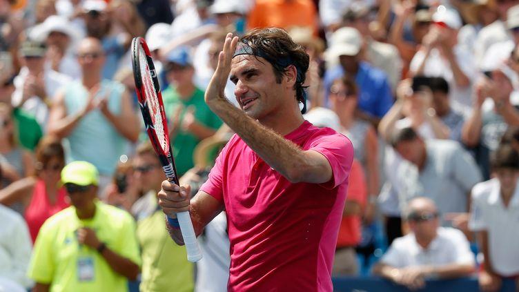 La joie de Roger Federer (ROB CARR / GETTY IMAGES NORTH AMERICA)