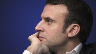 Emmanuel Macron, ministre de l'Economie, à Paris, le 23 janvier 2015. (ERIC PIERMONT / AFP)