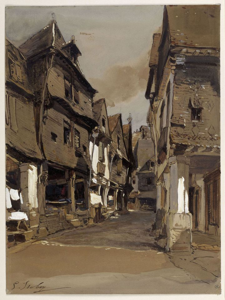 Eugène Isabey, Rue à Vitré, Paris, musée du Louvre  (RMN-GP (Musée du Louvre) / Thierry Le Mage)