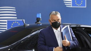 Le Premier ministre hongrois, Viktor Orban, au Conseil européen à Bruxelles, le 15 octobre 2020. (OLIVIER MATTHYS / AFP)
