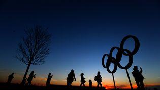 Des anneaux olympiques à Londres, le 15 mars 2014. (DAN ISTITENE / GETTY IMAGES EUROPE)