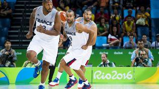 Le basketteur françaisTony Parker,lors du match contre la Chine auxJeux olympiques àRio (Brésil), le 8août 2016. (VINCENT CURUTCHET / DPPI MEDIA)