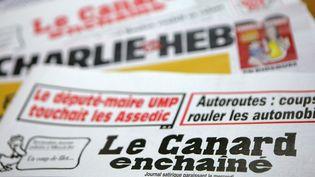 """Les deux dessins incriminés ont été publiés dans """"Le Canard enchaîné"""" le 11 septembre 2013. (SÉBASTIEN RABANY / PHOTONONSTOP / AFP)"""