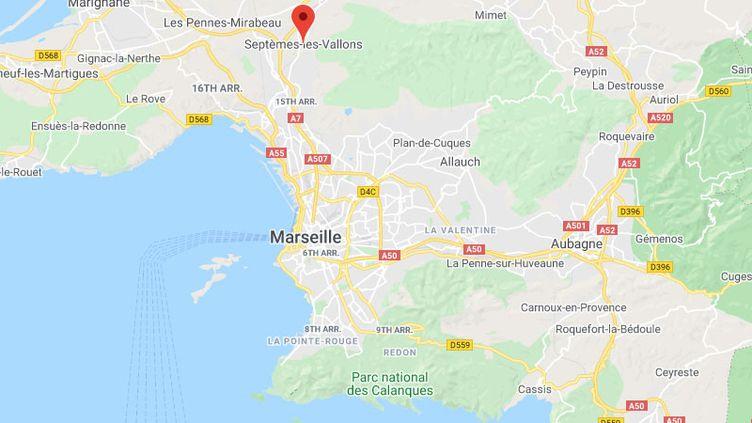 Septèmes-les-Vallons, près de Marseille, (Bouches-du-Rhône). (GOOGLE MAPS)