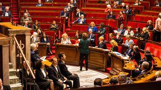 Le projet de réforme des retraites arrive en séance, lundi 17 février 2020. (XOSE BOUZAS / HANS LUCAS / AFP)