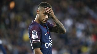 L'attaquant brésilien du PSG Neymar lors du match de Ligue 1 contre Toulouse, le 20 août 2017 au Parc des Princes (Paris). (STEPHANE ALLAMAN / AFP)