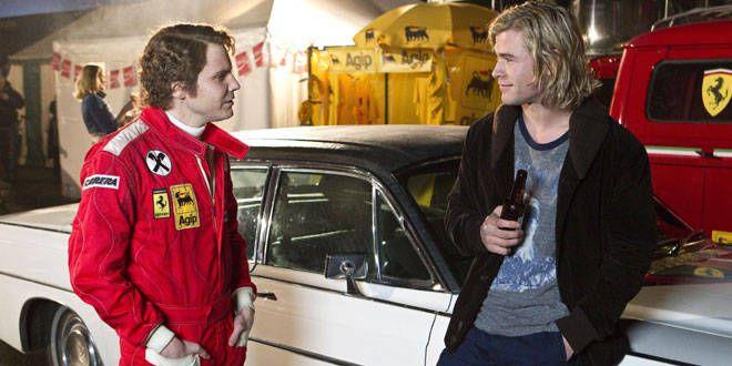 Daniel Brülh et Chris Hemsworth jouaient respectivement Nikki Lauda et James Hunt dans Rush