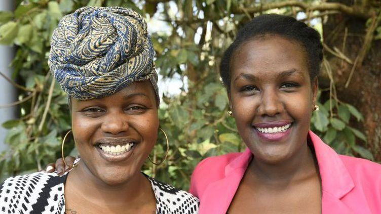 Wanjiru Koinange et Angela Wachuka (Tony Karumba /AFP)