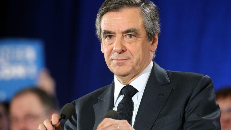 François Fillon lors d'un meeting à Charleville-Mézières (Ardennes), le 2 février 2017. (FRANCOIS NASCIMBENI / AFP)
