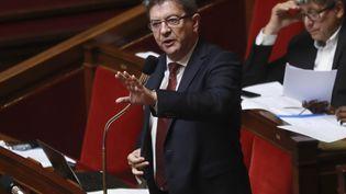 Jean-Luc Mélenchon à l'Assemblée nationale, à Paris, le 26 juillet 2017. (JACQUES DEMARTHON / AFP)
