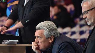 Parmi les personnalités invitées,Claude Onesta, l'ancien sélectionneur de l'équipe de France de handball, ici en Islande le 21 janvier 2017. (PHILIPPE HUGUEN / AFP)