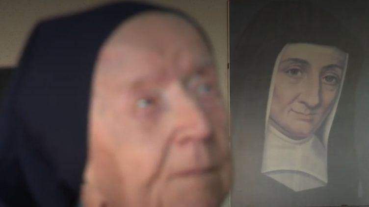Soeur André est devenue en 2019 à 115 ans la doyenne de l'Europe. (CAPTURE ECRAN FRANCE 2)
