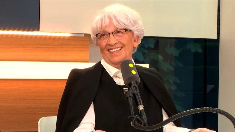 Bernadette Dodane, présidente de Cristel, le 15 septembre 2017, sur franceinfo. (FRANCEINFO / RADIOFRANCE)