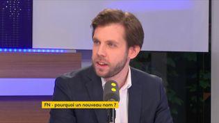 """Damien Lempereur, porte-parole de Debout la France, était l'invité de """"tout est politique"""" vendredi 1er juin sur franceinfo. (FRANCEINFO / RADIOFRANCE)"""