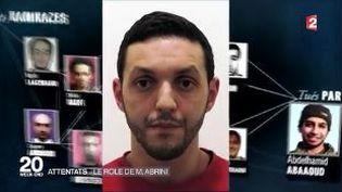 Animation montrant la galaxie terroristeaprès les attentats de Paris du 13 novembre. (FRANCE 2)