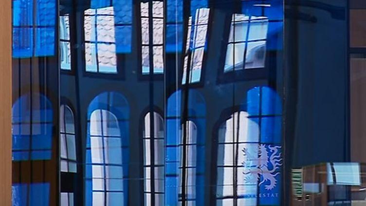 La nouvelle Bibliothèque humaniste de Sélestat (2018) - intérieur  (France 3 Alsace (capture d'écran))