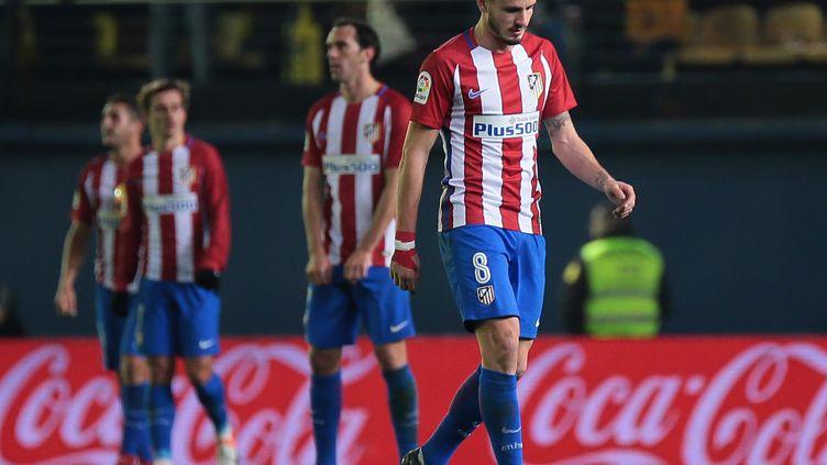 Saul Nigez, dépité après la nouvelle défaite de son équipe en Liga (ANTONIO DEL TORO / AFP)