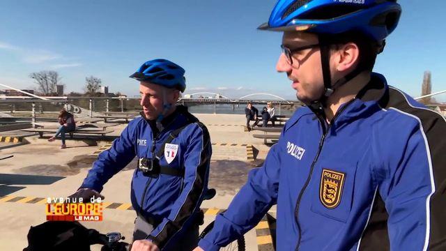 Avenue de l'Europe. La patrouille franco-allemande de l'Eurodistrict, nouvelle police de proximité à vélo
