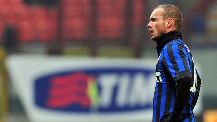 La joie de Diego Milito (Inter Milan) (GIUSEPPE CACACE / AFP)