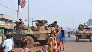 Des soldats français de la mission Sangaris, à Bangui, en Centrafrique, le 14 février 2016. (ISSOUF SANOGO / AFP)