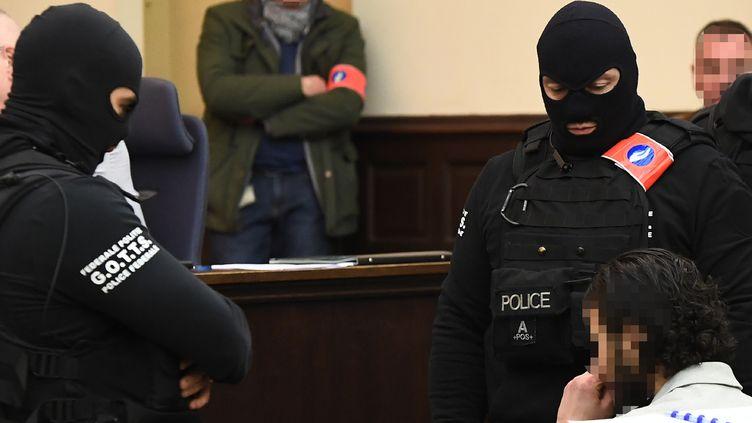 Salah Abdeslam, lors de l'ouverture de son procès à Bruxelles, le 5 février 2018. (AFP)