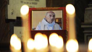Lors d'une cérémonie à la mémoire du père Jacques Hamel, le 17 août 2016 à Rome. (MARCO ZEPPETELLA / AFP)