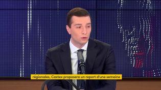 Jordan Bardella, vice-Président du Rassemblement national, député européen. (FRANCEINFO / RADIOFRANCE)