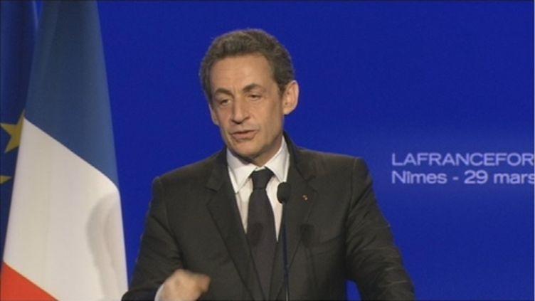 Nicolas Sarkozy, le 29 mars 2012 (FTV)