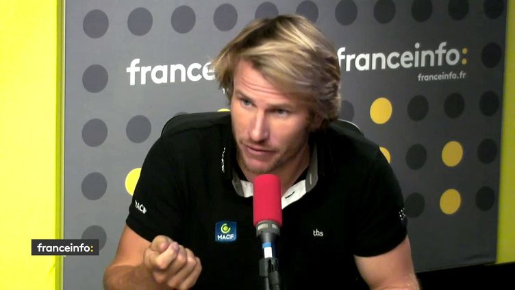 Le navigateur François Gabart le 26 novembre 2018 sur franceinfo. (FRANCEINFO / RADIOFRANCE)