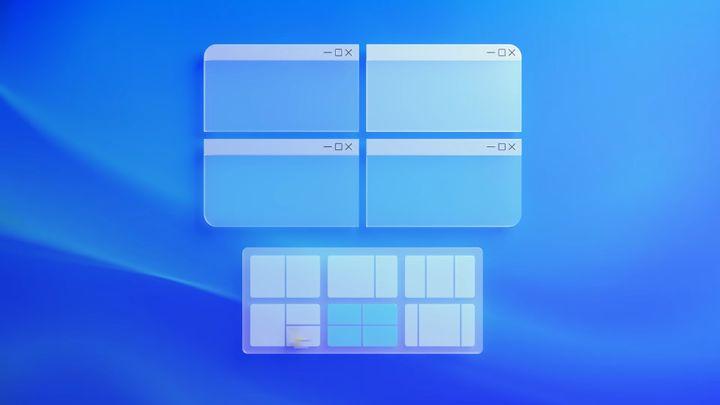 La fonctionnalité Snap Layouts qui permet de scinder son écran en plusieurs parties. (MICROSOFT)