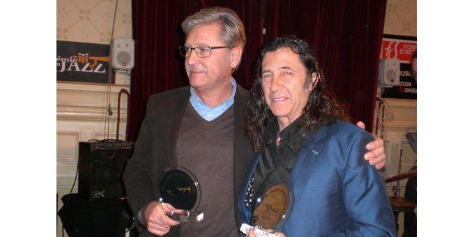 Jordi Pujol, dont le label barcelonnais Fresh Sound Records a été récompensé pour ses rééditions, et Jorge Pardo  (Annie Yanbékian)