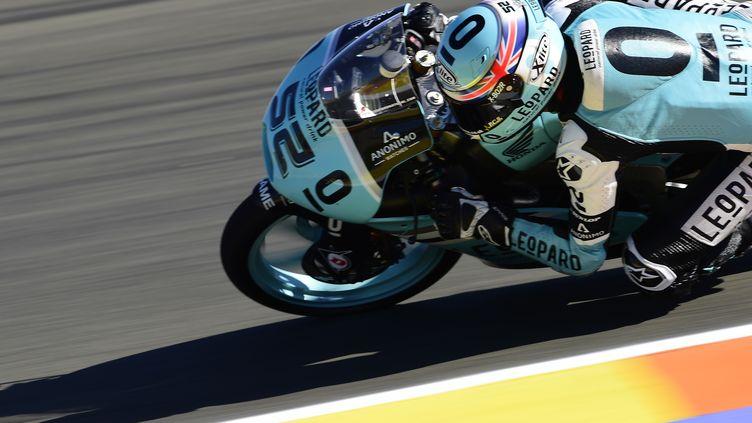 Danny Kent (Honda) titré en Moto 3 auy dernier GP à Valence (JAVIER SORIANO / AFP)
