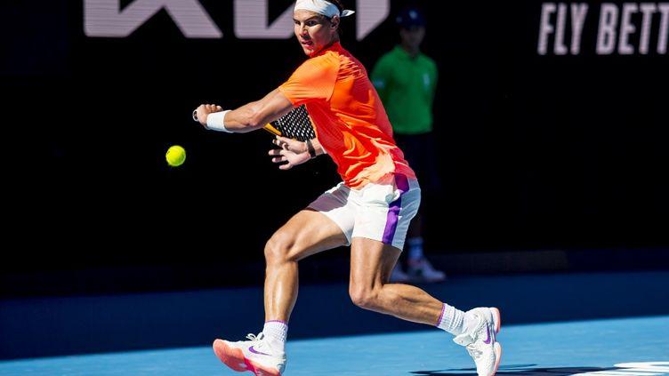 Rafael Nadal lors de sa victoire au premier tour de l'Open d'Australie (JASON HEIDRICH / ICON SPORTSWIRE)