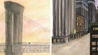 Sempé à New York ou la Grosse Pomme vue par l'un des plus grands dessinateurs français.  (J.J. Sempé-Sempé à New York - éditions Denoël / éditions Martine Gossieaux)