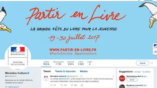 Capture d'écran du compte Twitter du ministère de la Culture, mardi 18 juillet. (TWITTER / FRANCEINFO)