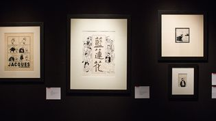 Des planches de Hergé en vente aux enchères le 14 mars 2015 chez Christie's.  (Romuald Meigneux / SIPA)
