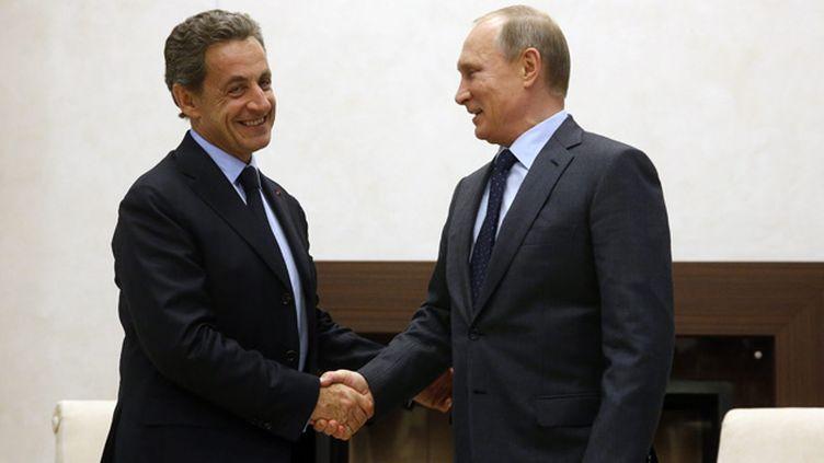 (Nicolas Sarkozy et Vladimir Poutine à Moscou © SERGEI CHIRIKOV / POOL/EPA/MaxPPP)